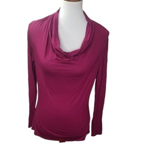 || TRINA TURK || Small Berry Drape Neck Top